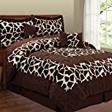 Fashion St. Micro Suede 6-Piece Comforter Set, Giraffe, Queen