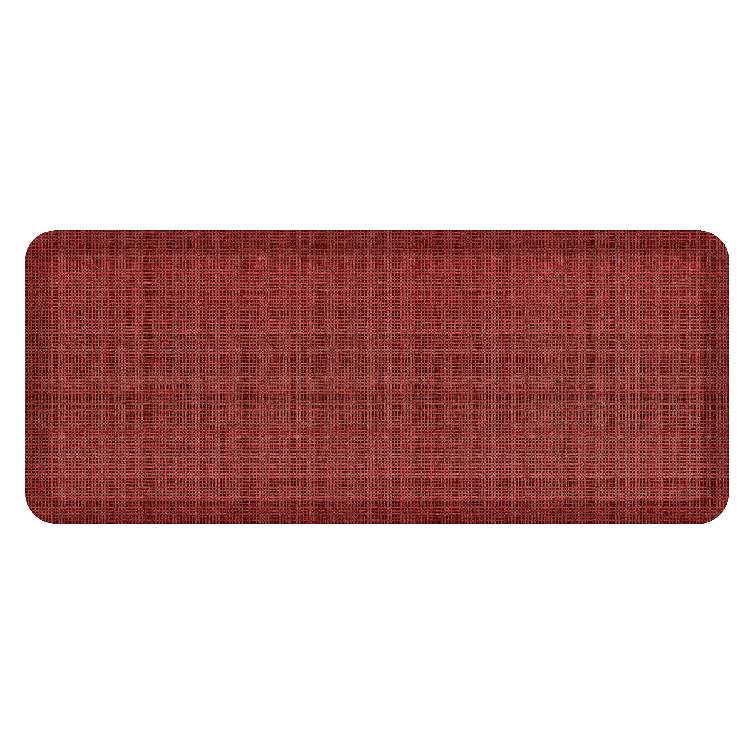 """NewLife by GelPro Anti-Fatigue Designer Comfort Kitchen Floor Mat, 20x48'', Tweed Barn Red Stain Resistant Surface with 3/4"""" Thick Ergo-foam Core for Health and Wellness"""