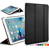 Forefront Cases Leather Case Cover with Magnetic Auto Sleep Wake Function for 7.9 inch Apple iPad Mini with Retina Display - Black