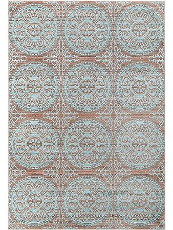Benuta Teppich Visconti Braun/Türkis 80x150 Cm | Moderner Teppich Für Wohn   Und Schlafzimmer