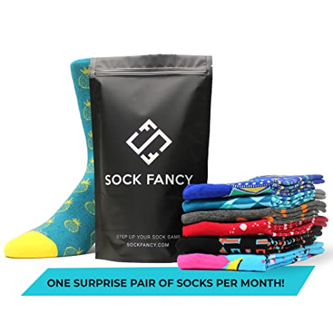 Sock Fancy - Surprise Pair of Socks Subscription: Crew Socks