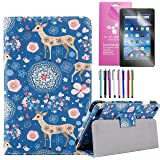 EpicGadget 2019/2017 Amazon Fire 7 Case, Smart Cover Case for Fire 7 Premium PU Leather Folding Folio Stand Case for Fire 7 i