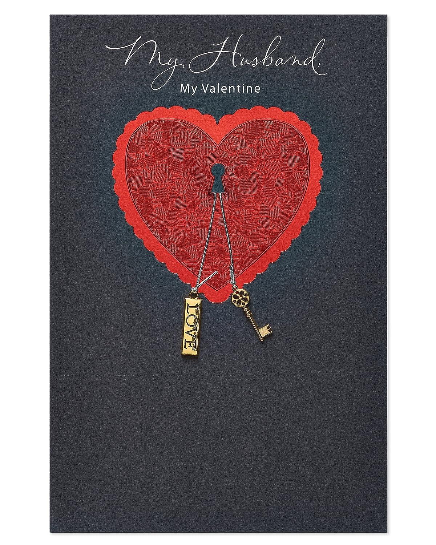 American Greetingsグリーティングカード B07857XPXB My Valentine Valentine's Day Card for Husband