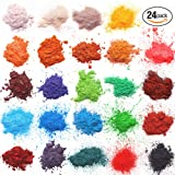 24 Colors for Soap Coloring - Mica Powder Pigments - Soap dye - Soap Making Colorants Set - (0.1 oz 24 bags) - Candle Making, Blush, Eye Shadow, Craft Projects, Nail Art, Resin Jewelry