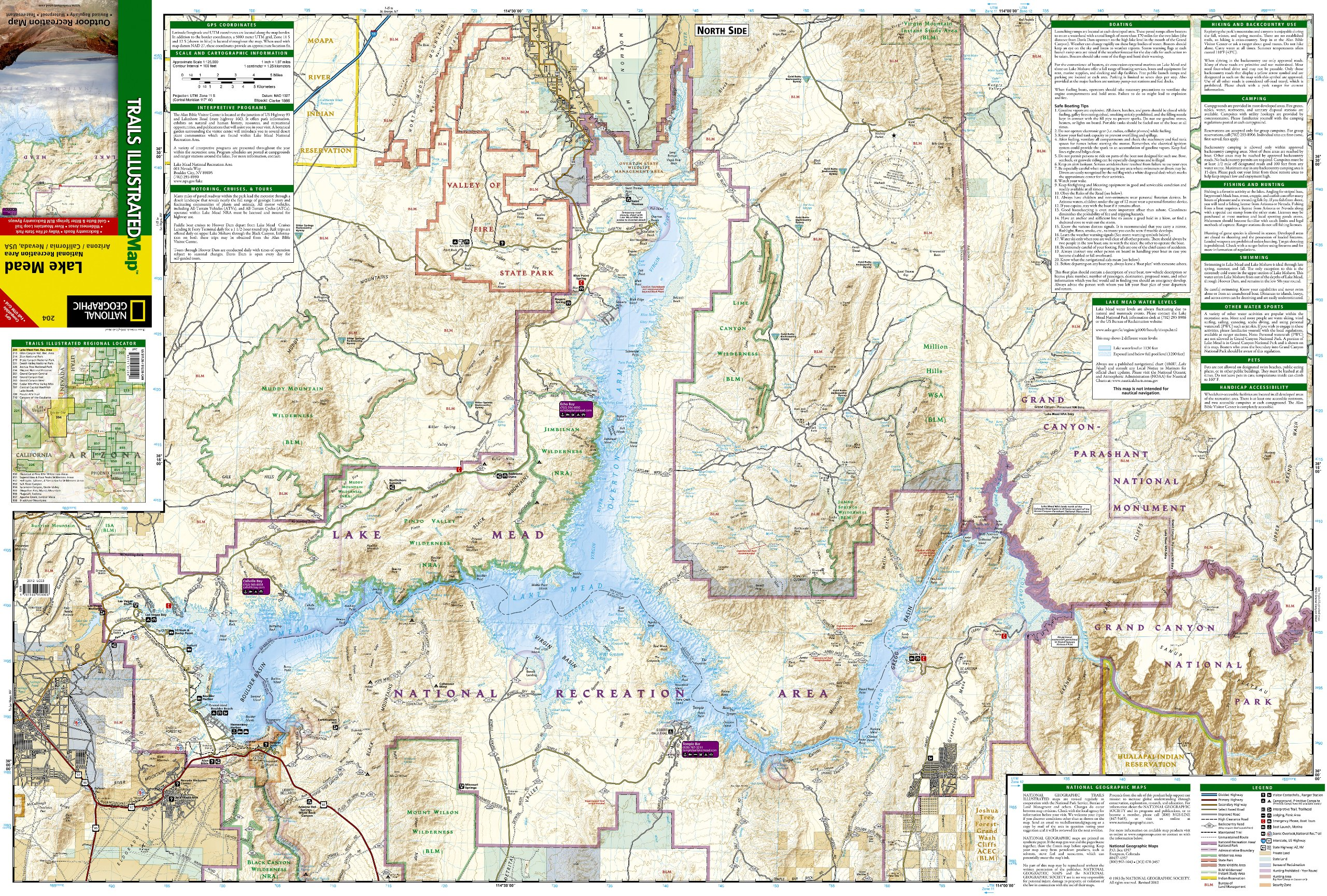 lake mead national recreation area national geographic trails