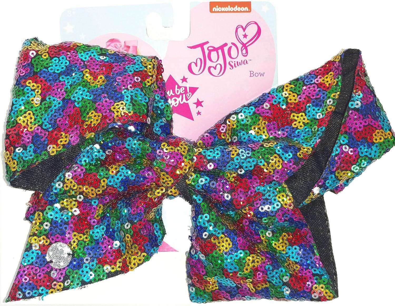 JoJo Siwa Large Cheer Hair Bow (Rainbow Sequined) HER Accessories