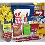 Get Well Gift Box Basket - For Cold / Flu / Illness - Over 2.5 Pounds of Care, Concern, and Love in This Care Package - Send a Smile Today!