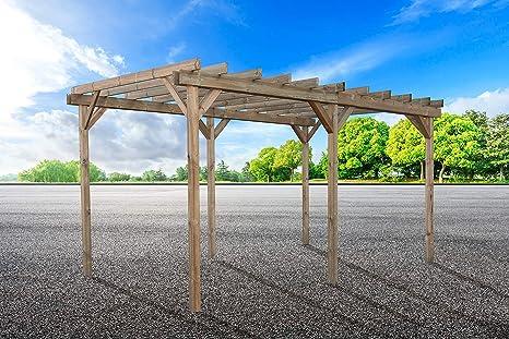 Carport 300 x 500 Pérgola cenador garaje coche DP.LO/CARPORT ...