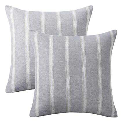 Amazon HOME BRILLIANT 40 Packs Striped Euro Sham Pillow Cover Interesting 24 Inch Decorative Pillow Covers