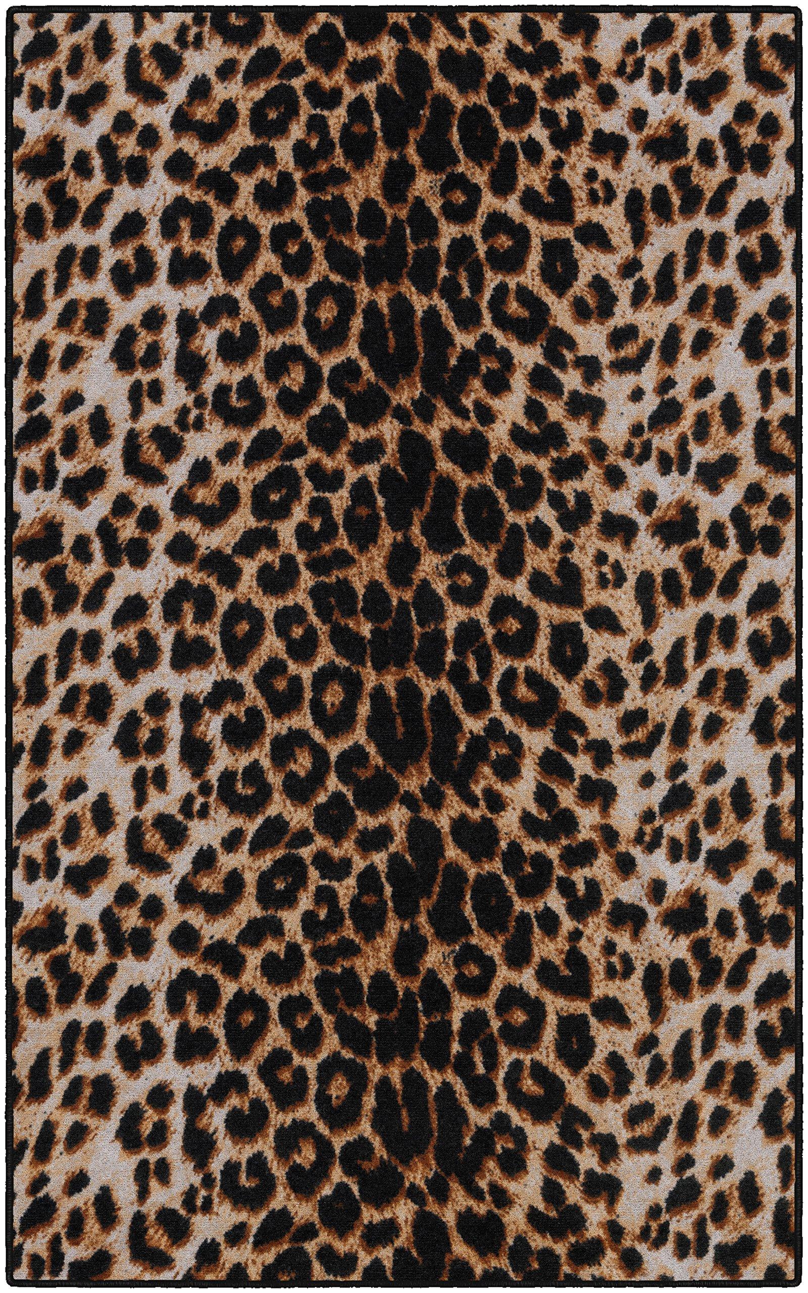 Brumlow Mills EW10210-40x60 Leopard Print Area Rug, 3'4 x 5'