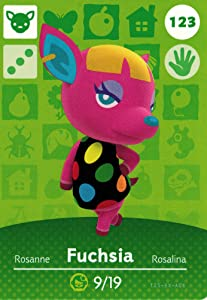 Nintendo Animal Crossing Happy Home Designer Amiibo Card Fuchsia 123/200 USA Version