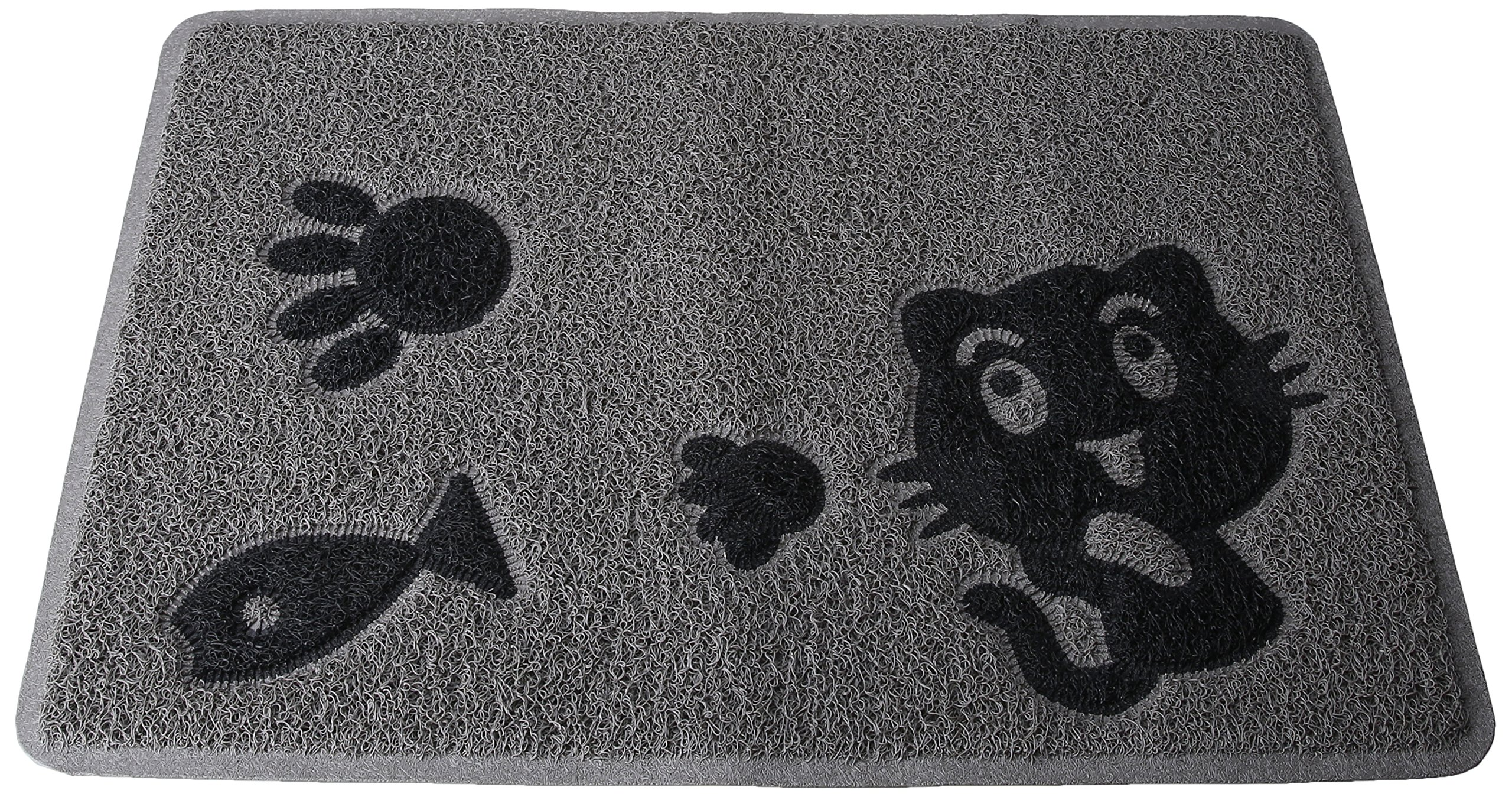 Smartcatcher Contemporary Cat Litter Box Mat Frisky Cat Collection Small by Smartcatcher