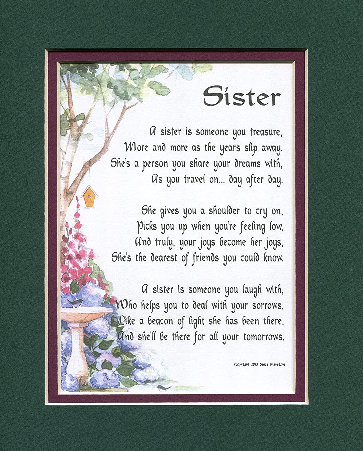 Birthday Gift Present Poem For A Sister 61A