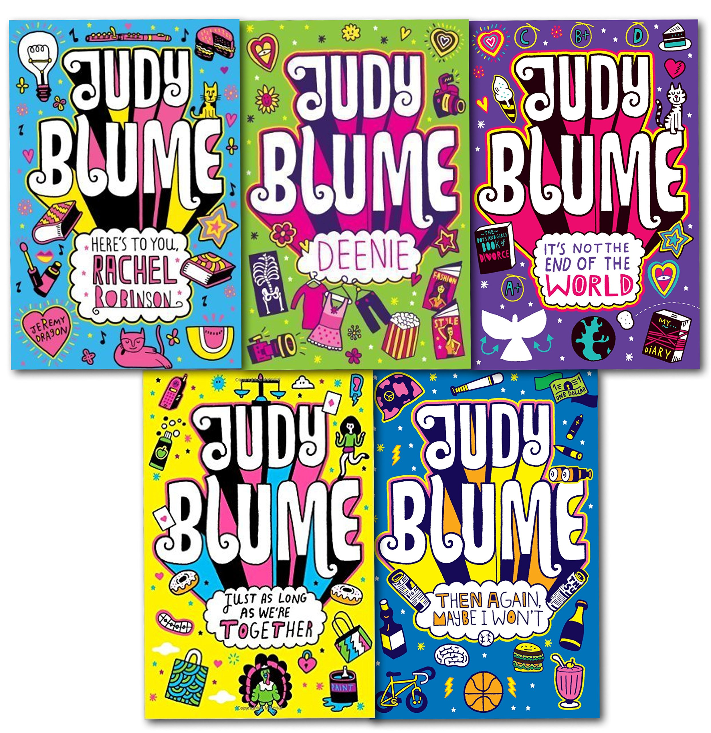 Read Online Judy Blume Children Collection 5 Books Set (Then Again Maybe I Wont, It S Not the End of the World, Just As Long As We Re Together, Deenie) ebook