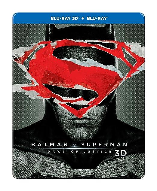 da4ff24d9639 Amazon.in  Buy Batman v Superman  Dawn of Justice (Steelbook) (Blu-ray 3D    Blu-ray) (2-Disc) DVD
