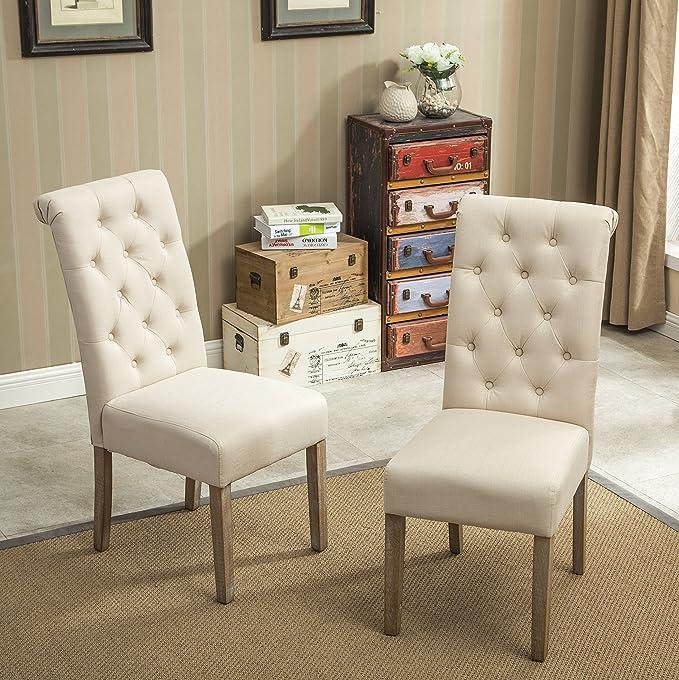 Roundhill Furniture Habit Legno massello Tufted Parsons