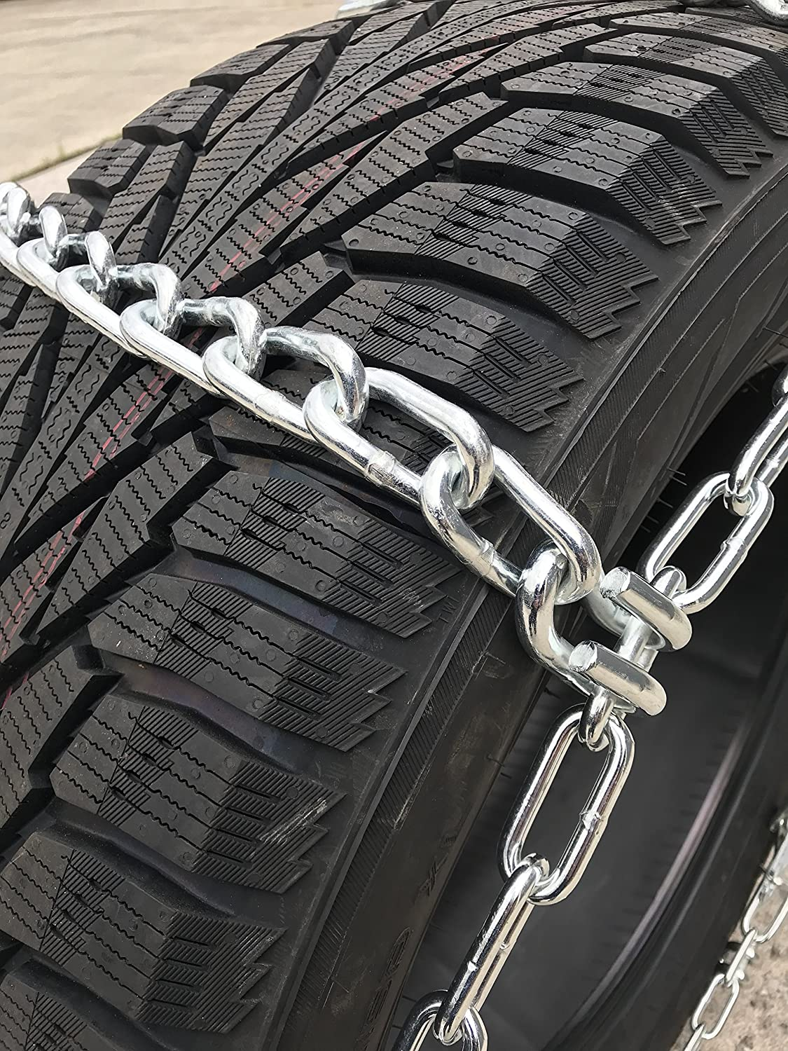 TireChain.com 225//70R19.5 225//70 19.5 Extra Heavy Duty Mud Tire Chains Set of 2