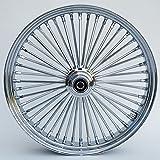 Ultima King Spoke Chrome Front Single Disc Wheel 21x3.5 for 2000-06 Harley Models (37-525)