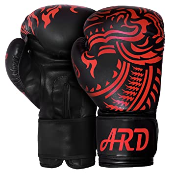 amazon 350ml black ard boxing gloves art leather punch