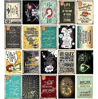 20 Spruchkarten #3, Retro Postkarten Mit Lustigen Sprüchen, 20 Verschiedene  Sprüche, 14