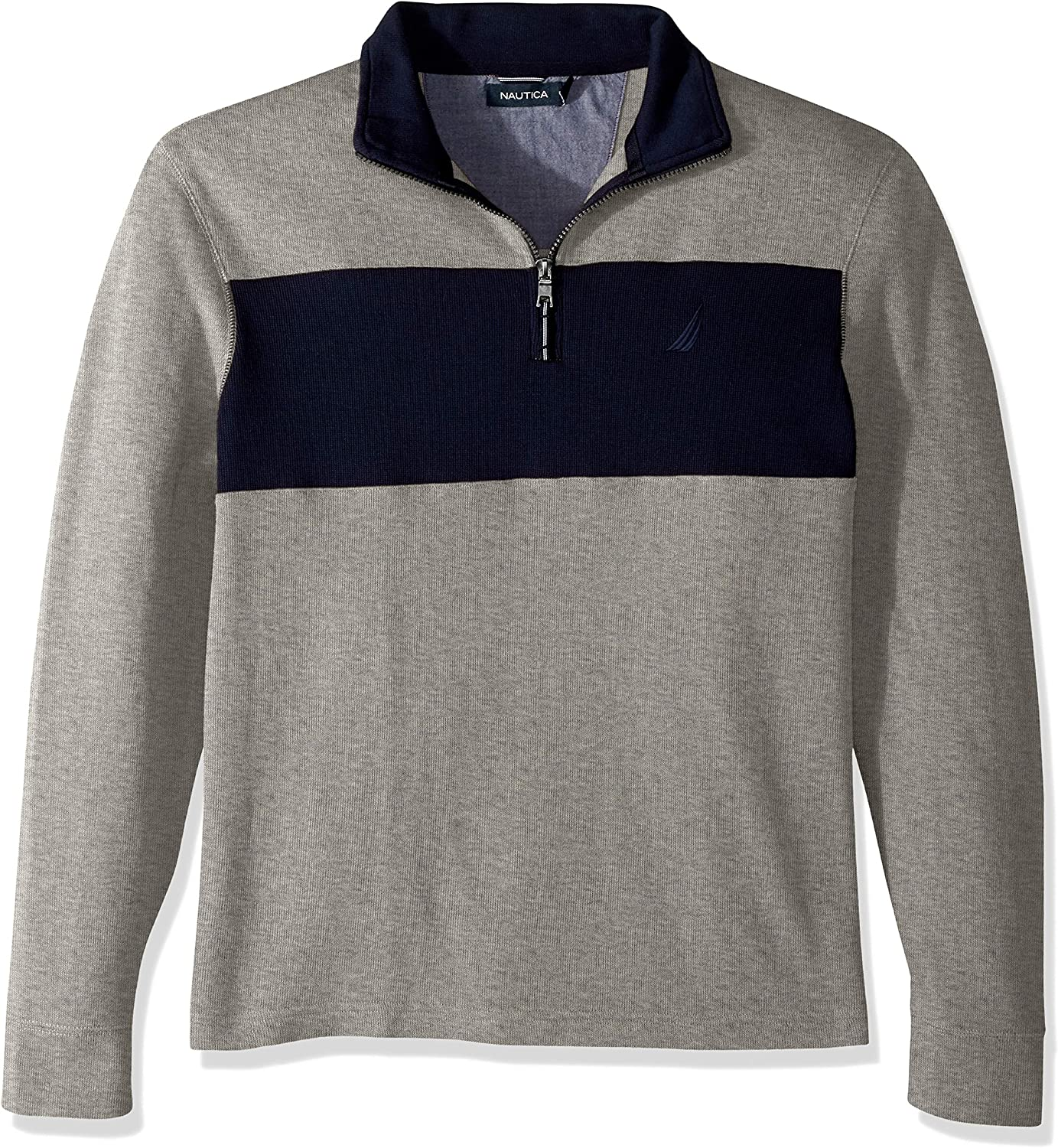 Nautica French Rib Sudadera, Gris (Grey Heather 0gh), X-Large ...