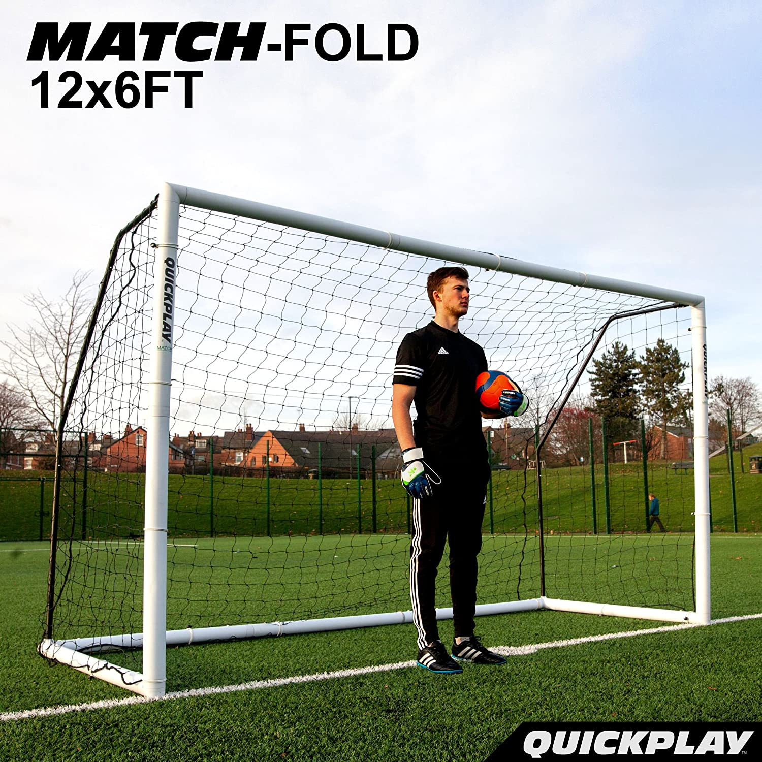 amazon com quickplay fold away soccer goals match standard