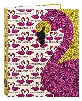 Moos - Carpeta anillas folio, diseño Flamingo (Safta 511423657): Amazon.es: Juguetes y juegos