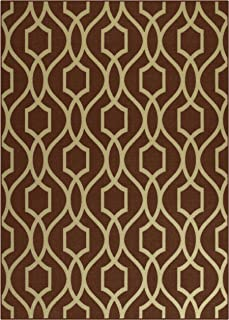 product image for Maples Rugs 5 x 7 Non Slip Large Area Rugs [Made in USA] for Living Room, Bedroom, and Dining Room, Auburn