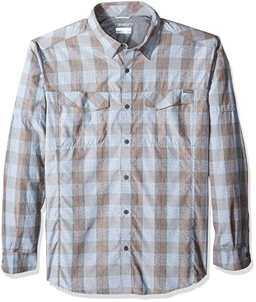 64210321ca7 Amazon.com: Columbia Men's Silver Ridge Plaid Long Sleeve Shirt, Steel  Heathered Plaid, X-Large: Clothing