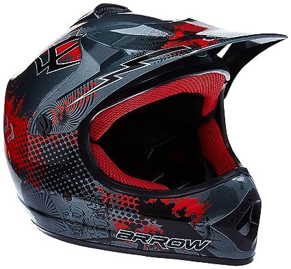 Gloves,Goggles,Mask,Stickers for Free ,S Motocross Helmet Mountain Bike Off Road Motorbike Crash Helmet Full Face Adult Children Kids Helmet D.O.T Certified for ATV//MX//BMX//Enduro//MTB