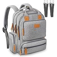 Sensyne Diaper Bag Backpack, Multi-Function Travel Nappy Baby Bags for Mom