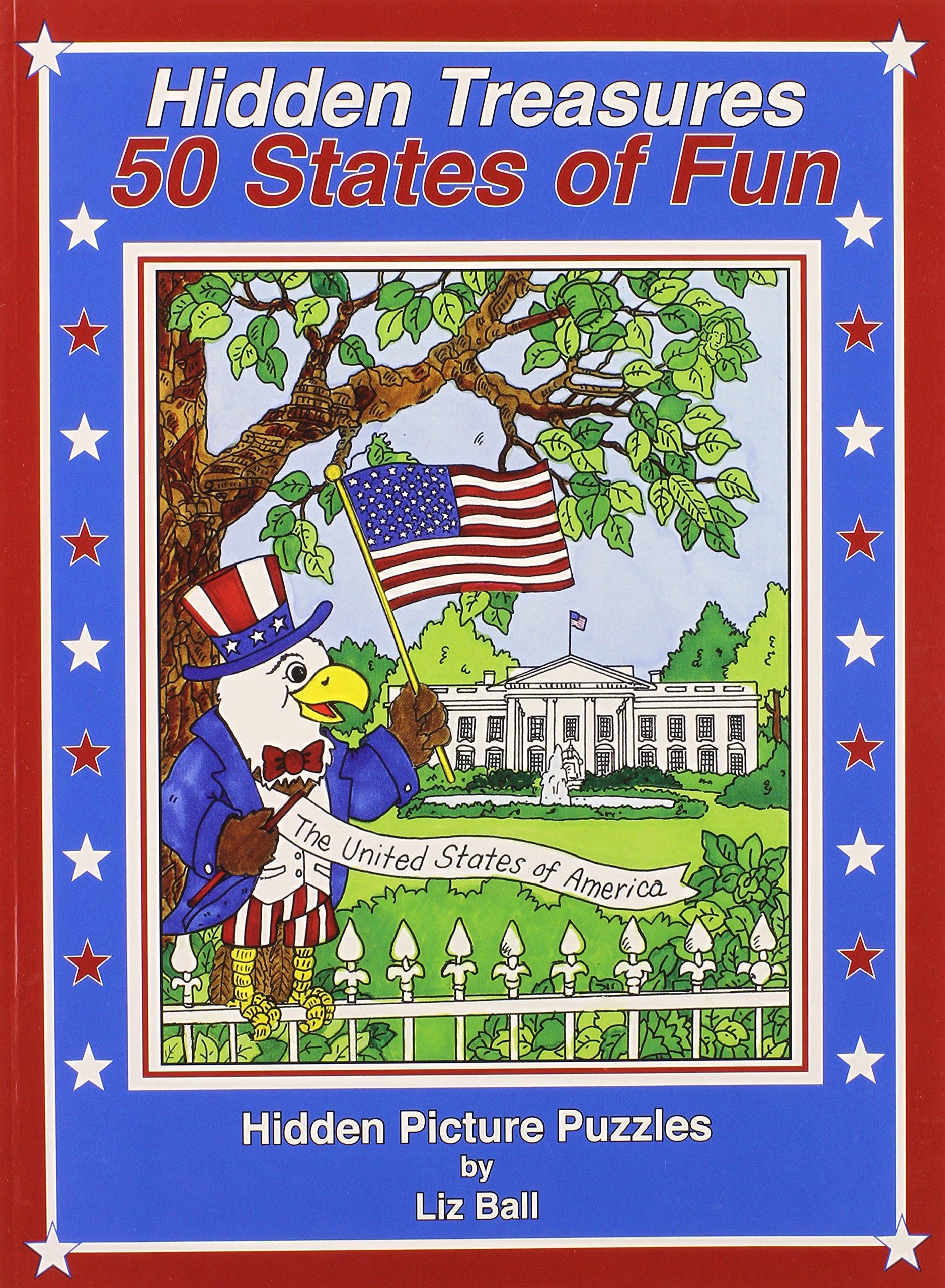 50 States of Fun - Hidden Treasures: Hidden Picture Puzzles