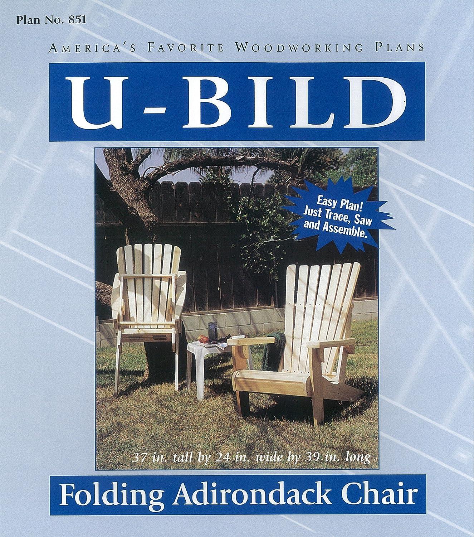 U Bild 851 Folding Adirondack Chair Rocking Whale Project Plan Woodworking Project Plans Amazon Com