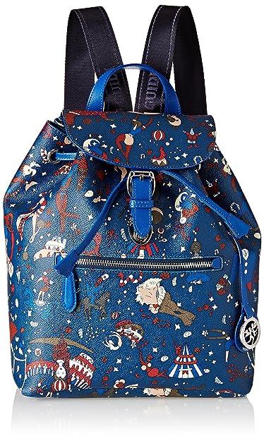 PIERO GUIDI Backpack, Sac à dos femme Blu (Blu di Prussia) 26x30.5x14.5 cm (W x H x L)