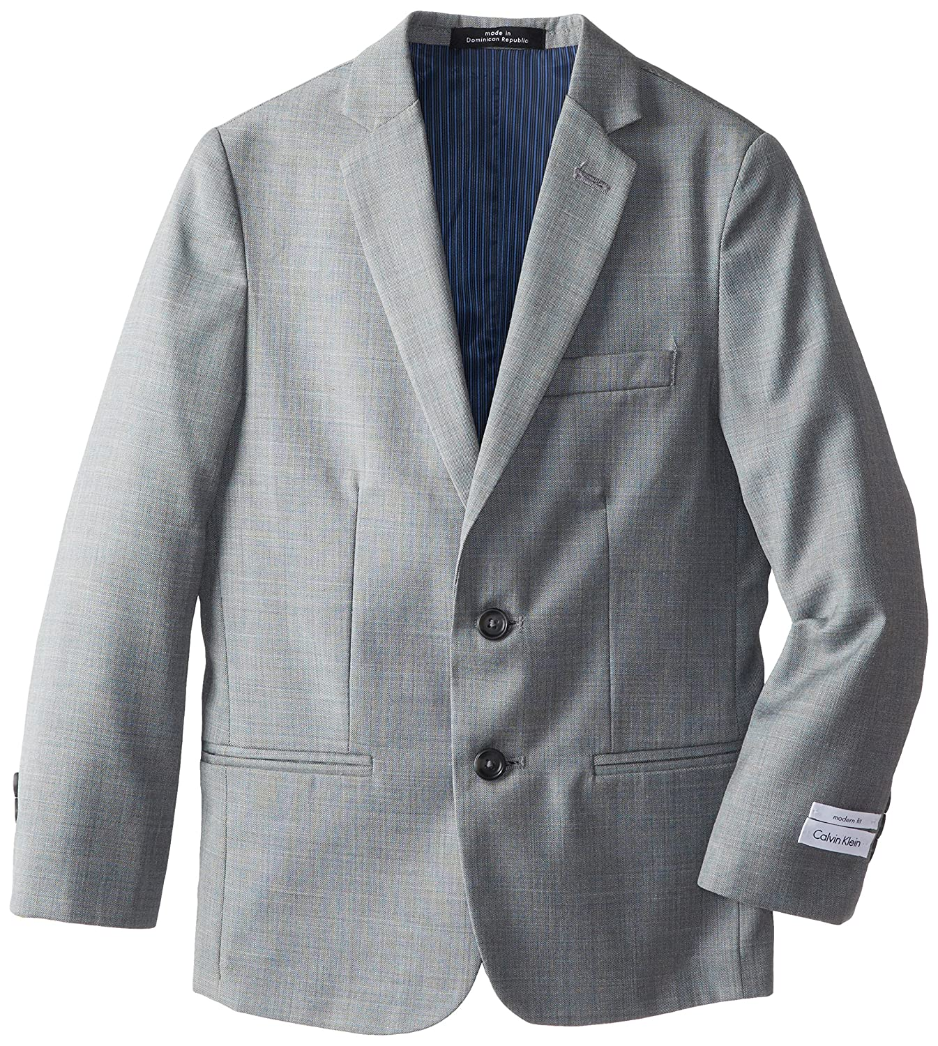 Calvin Klein boys Big Kids Sharkskin w/ Blue Deco Jacket (Big Kids) K821083