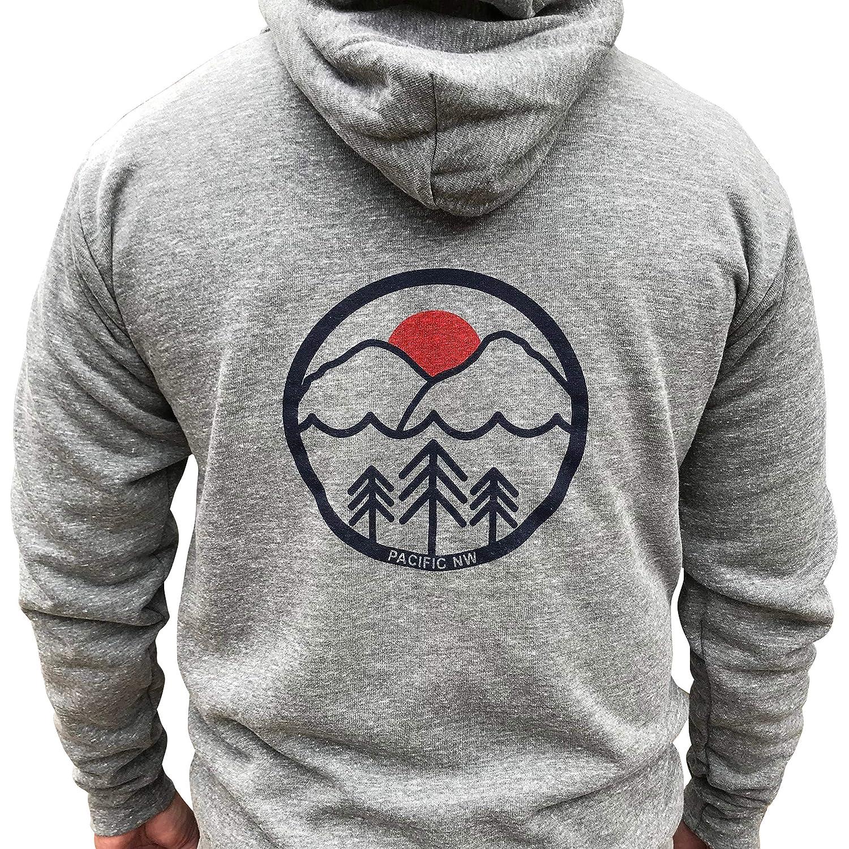 Mens/Unisex Pacific Northwest heavyweight zip hoodie. PNW zip hoodie