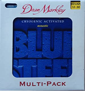 Dean Markley Blue Steel Acoustic Guitar Strings 3-pack; 12-54 med light