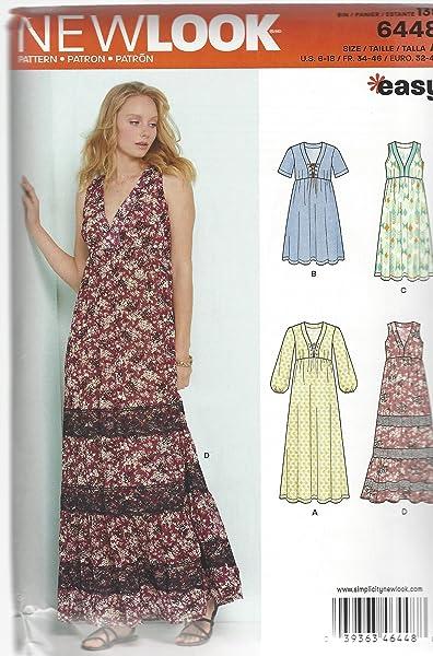 NewLook-6... New Look Ladies Sewing Pattern 6096 Maxi /& Knee Length Dresses