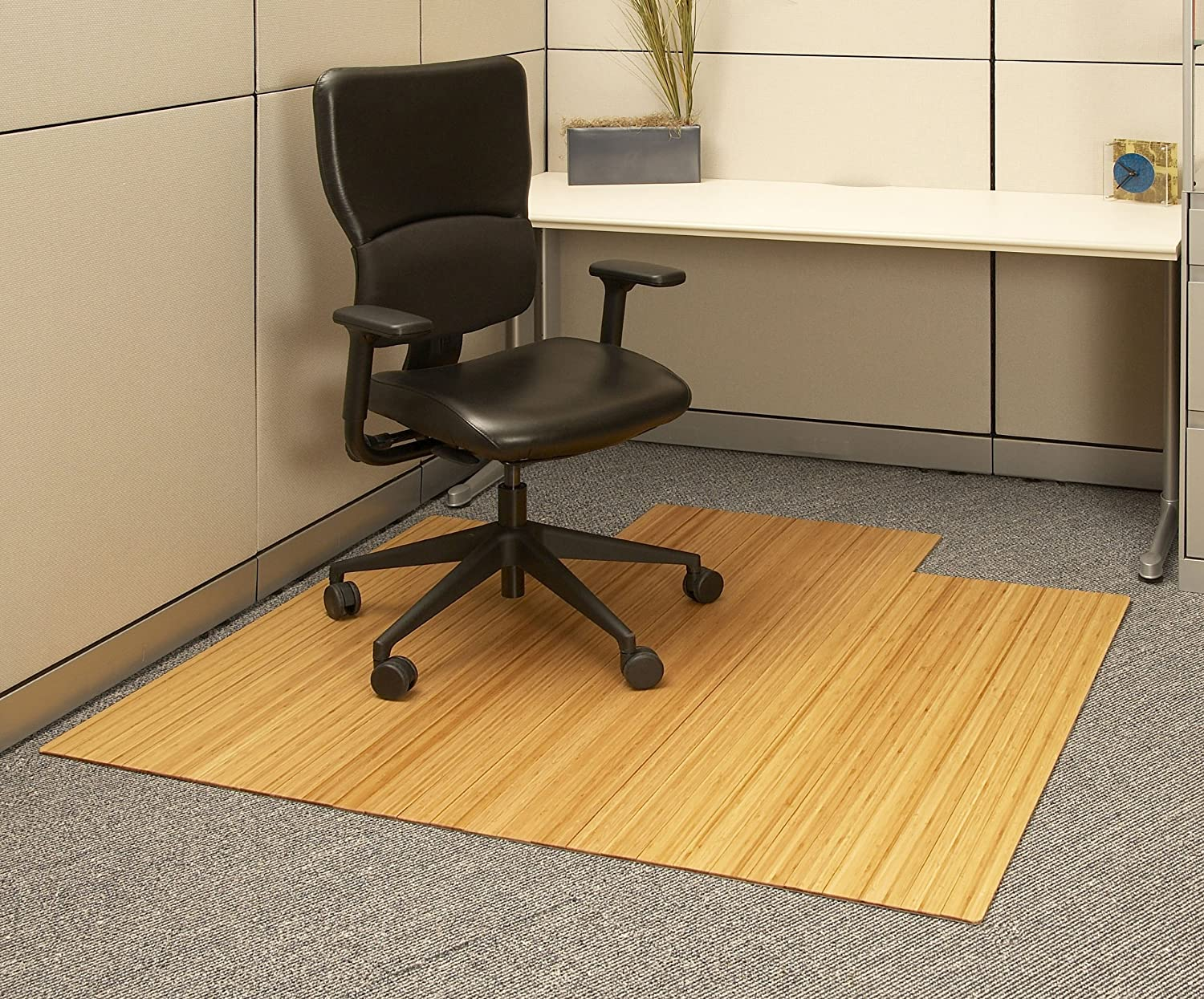 Amazoncom Anji Mountain AMB Bamboo RollUp Chairmat With - Office chair mat