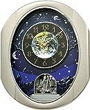 """Rhythm Clocks """"Peaceful Cosmos II"""" Magic Motion Clock"""