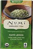 Numi Organic Tea Mate Lemon, Yerba Mate, Green Tea & Lemon Myrtle, 18 Count non-GMO Tea Bags