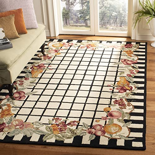 Safavieh Chelsea Collection HK125A Hand-Hooked French Country Wool Area Rug