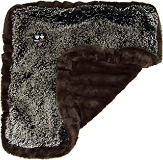 product image for BESSIE AND BARNIE Godiva Brown/Frosted Willow Luxury Shag Ultra Plush Faux Fur Pet, Dog, Cat, Puppy Super Soft Reversible Blanket (Multiple Sizes)