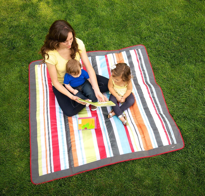 JJ Cole JEMGR - Manta de viaje, 1.5 x 1.5 m, color gris y rojo: Amazon.es: Bebé