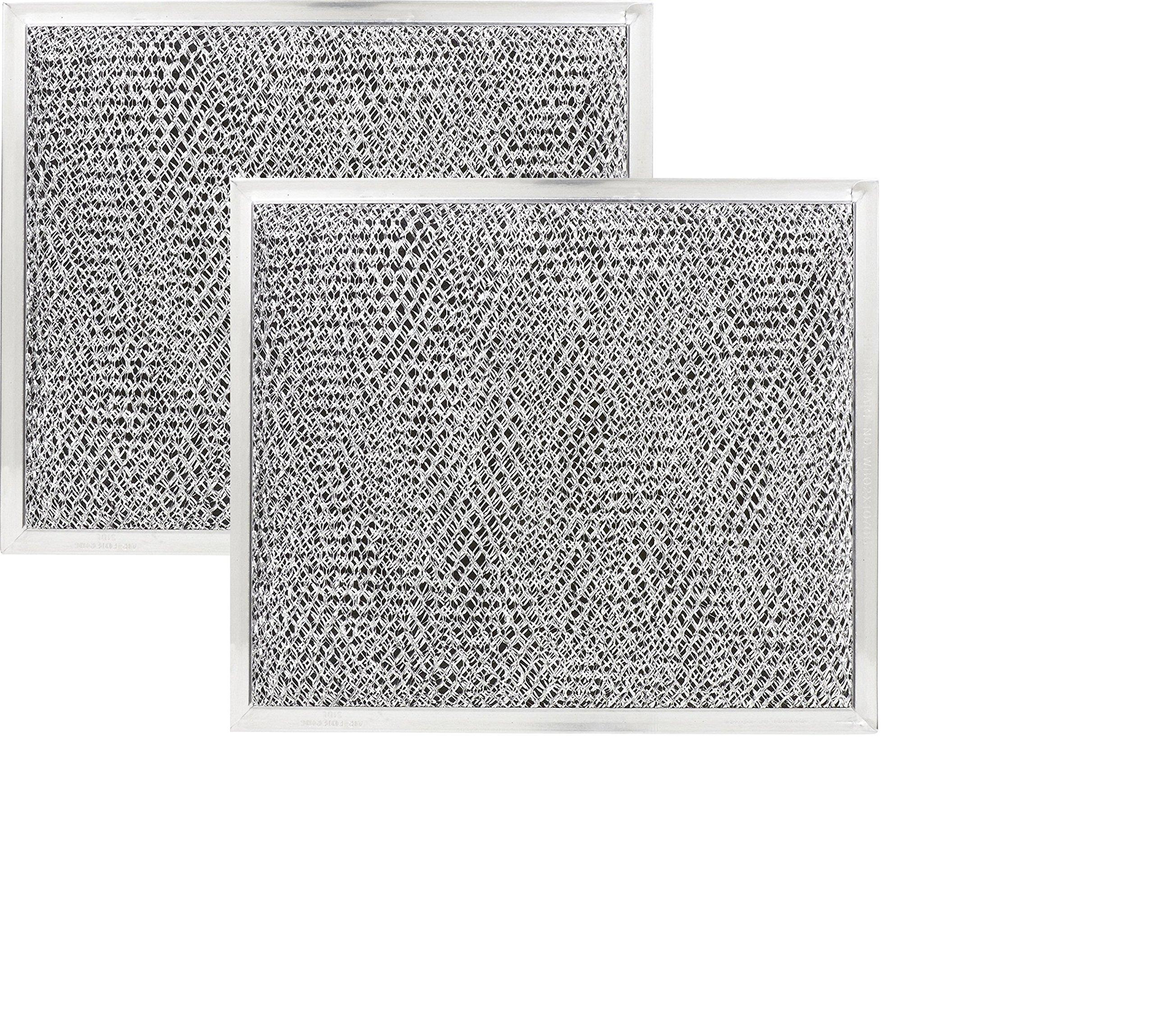 2 PACK 9 x 10-1/2 x 3/32 Range Hood Aluminum Charcoal Combo Filters