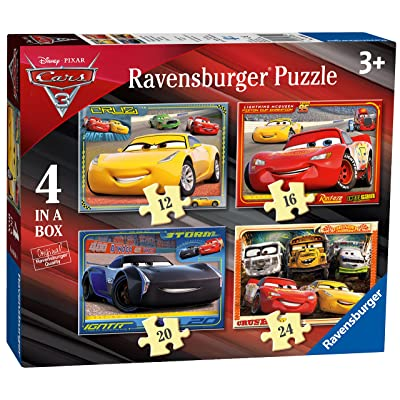 Ravensburger 6894 Disney Pixar Cars 3 - 4 In A Box Jigsaw Puzzles: Toys & Games