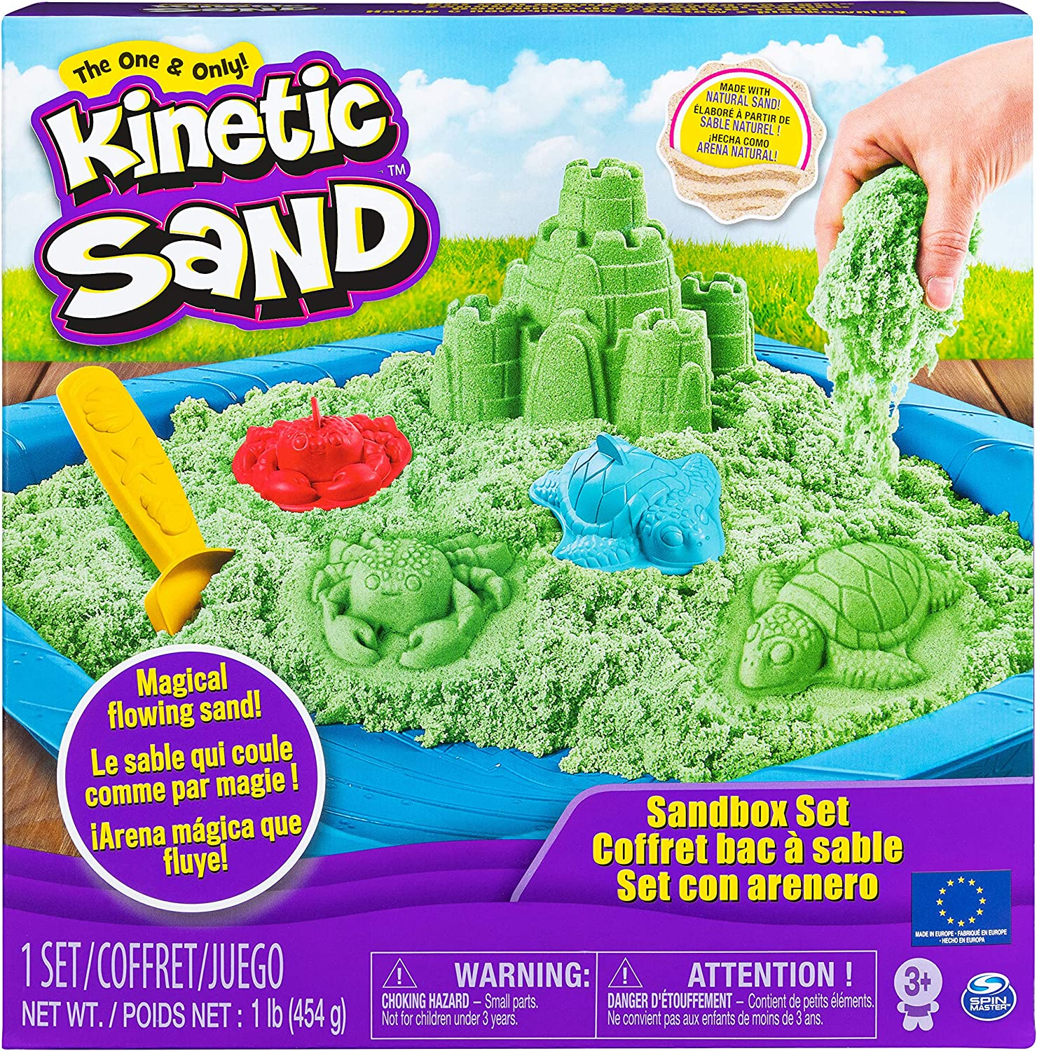 Green Kinetic Sand Sandbox Set