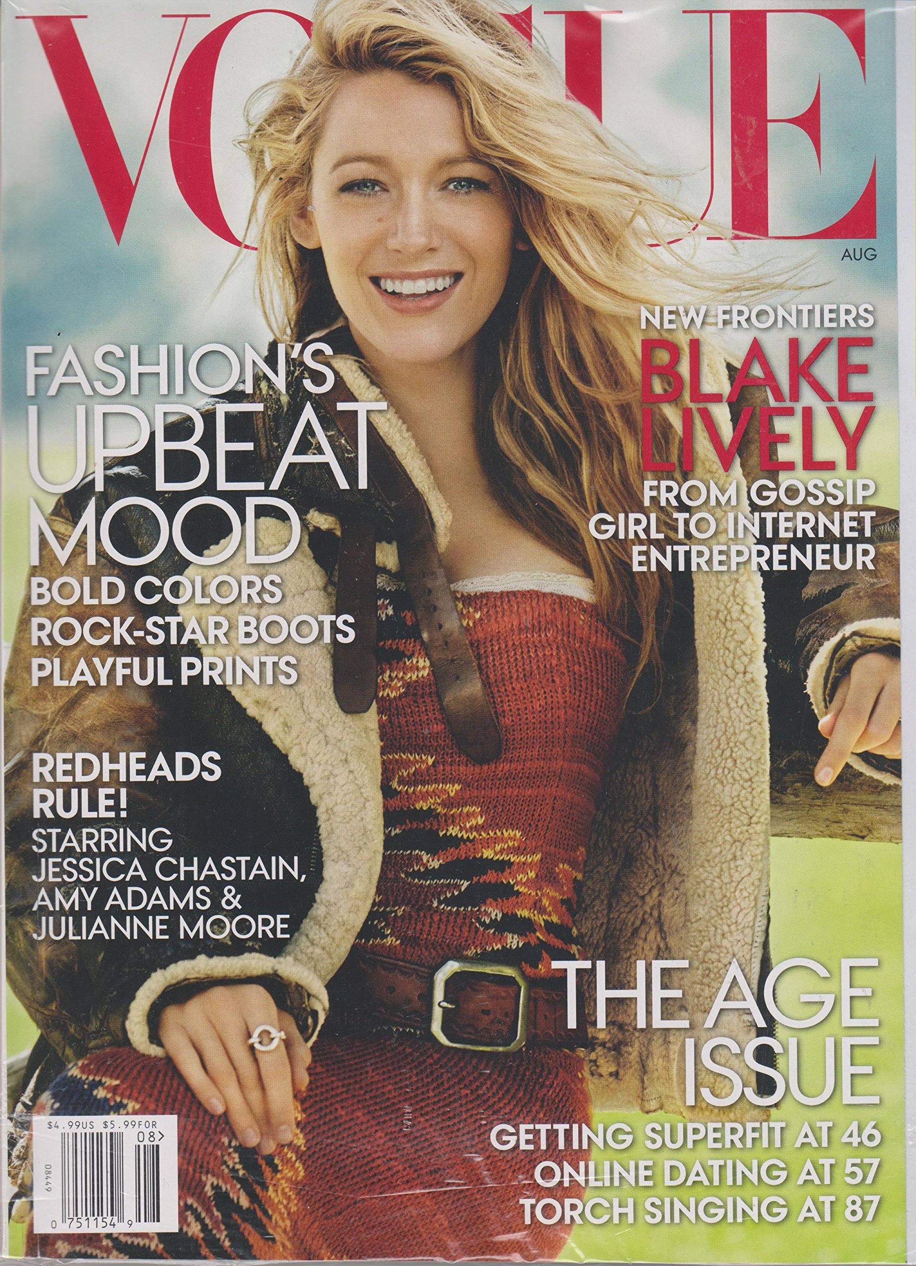 Vogue Magazine August 2014 - Blake Lively: From Gossip Girl to ...
