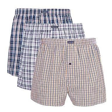 2be9323d7f49 Vanever 3PK Men's Woven Boxers, 100% Cotton Boxer Shorts for Men,  Boxershorts with