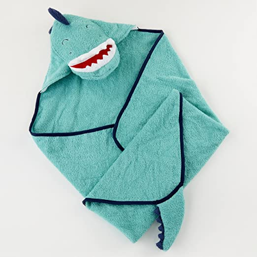 Amazon.com : Baby Aspen, Dino Baby T-Rex Hooded Towel, Terry Cloth : Baby